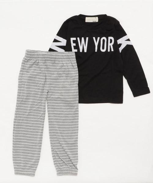 NEW YORKロゴ長袖Tシャツ スウェットパンツ セットアップ キッズ