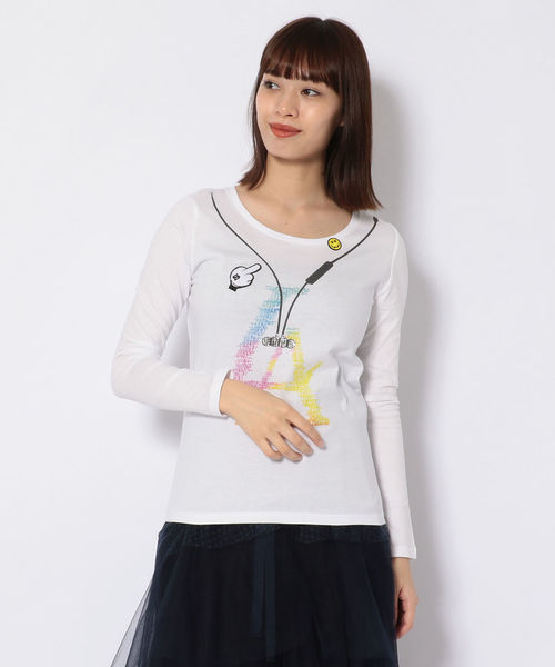 stud./スタッド/イヤホンLA LS Tシャツ