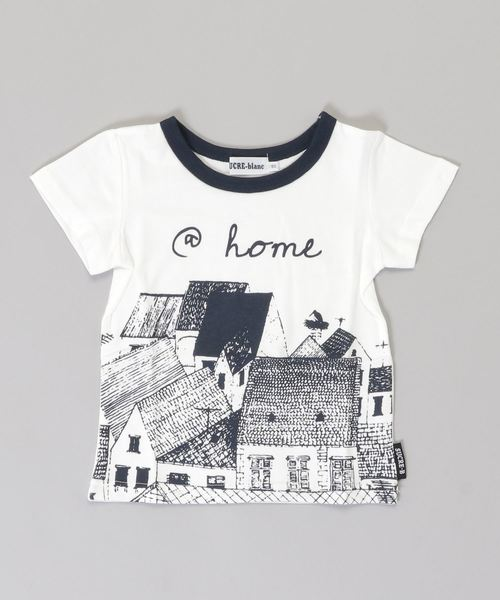 SUCRE-blanc/アットホームプリントTシャツ