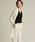 LAUTREAMONT(ロートレアモン)の「シワになりにくいきれいめ冷房対策カーデ(Tシャツ/カットソー)」|ホワイト