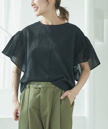 pual ce cin(ピュアルセシン)のフリル袖プルオーバー(Tシャツ/カットソー)
