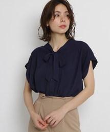 AG by aquagirl(エージー バイ アクアガール)の【洗える】【Lサイズあり】ボウタイブラウス(シャツ/ブラウス)
