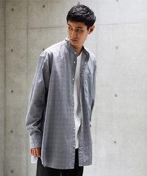 koe(コエ)のロングストライプ&チェックバンドシャツ(シャツ/ブラウス)