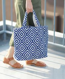 【マザーズバッグとしてもオススメ・新色追加・Market】ジャガード刺繍ビッグトートバッグ