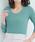 Pierrot(ピエロ)の「前身頃2枚仕立てで透けにくい ネックデザインが選べる テレコリブカットソー(Tシャツ/カットソー)」|詳細画像