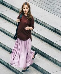 Demi-Luxe BEAMS(デミルクス ビームス)のDemi-Luxe BEAMS / サテン プリーツスカート(スカート)