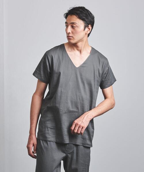 <steteco.com(ステテコドットコム)>  Vネックシャツ