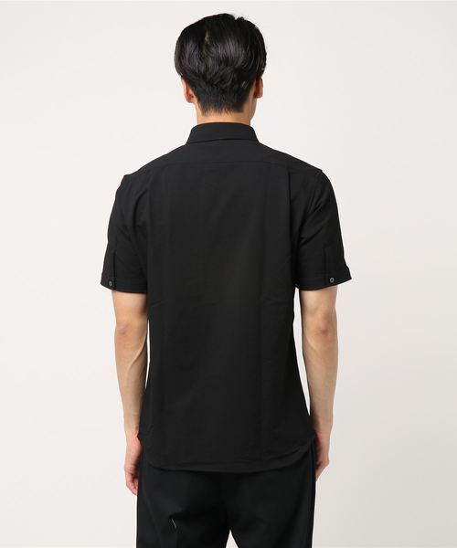 シアサッカー素材ボタンダウンシャツ