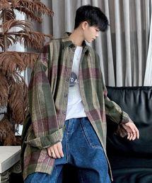 neos(ネオス)の【neos -addictive design-】オーバーシルエット 起毛 チェックシャツ コート(シャツ/ブラウス)