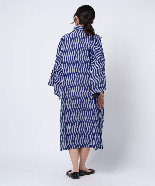 BOHEMIANS/ボヘミアンズ BLUE IKAT LOMG PAKE MUU/ワンピース