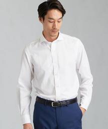 ET コットン/麻 ツイル無地 カッタウェイカラー シャツ