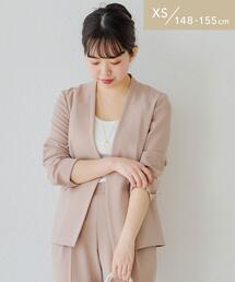 [ XS / H148-155cm ][ 手洗い可能 / サラフール ] ★★D ノーラペル ジャケット <XS>