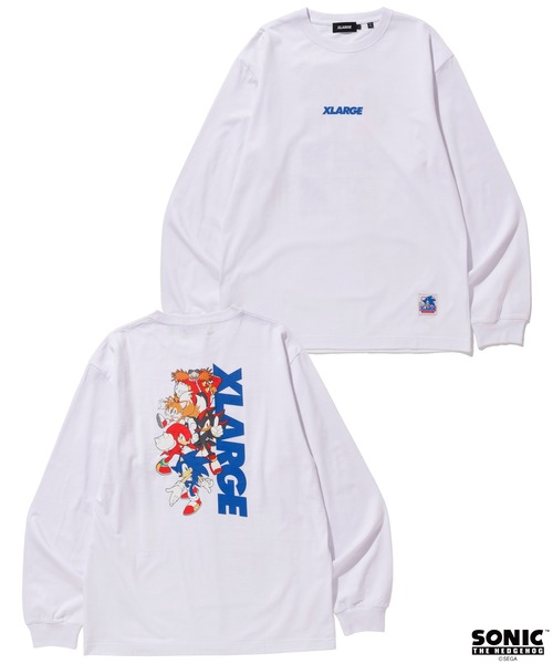 XLARGE(エクストララージ)の「【XLARGE×SONIC THE HEDGEHOG】L/S TEE  STANDARD LOGO(Tシャツ/カットソー)」 ホワイト