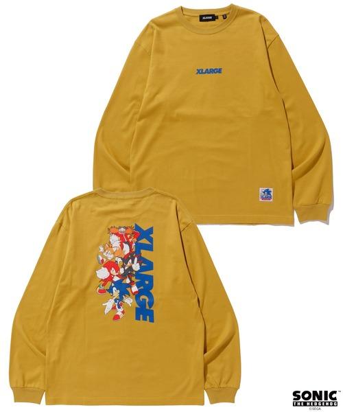 XLARGE(エクストララージ)の「【XLARGE×SONIC THE HEDGEHOG】L/S TEE  STANDARD LOGO(Tシャツ/カットソー)」 イエロー