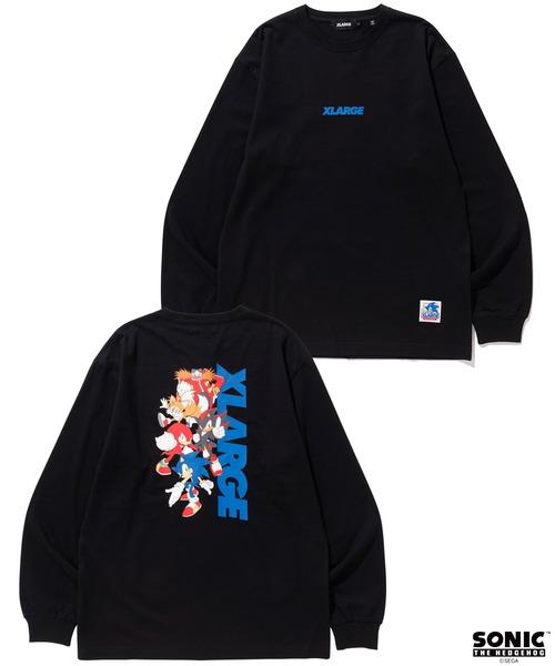 XLARGE(エクストララージ)の「【XLARGE×SONIC THE HEDGEHOG】L/S TEE  STANDARD LOGO(Tシャツ/カットソー)」 ブラック