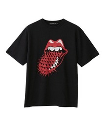 THE ROLLING STONES/VOODOO SPIKED TONGUE Tシャツブラック