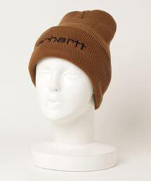 【 carhartt / カーハート 】アクリル 刺繍 ニットワッチ ビーニー ニットキャップ ニット帽 carhartt 104068 NSZブラウン