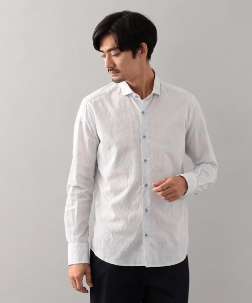 バックカットジャカードシャツ