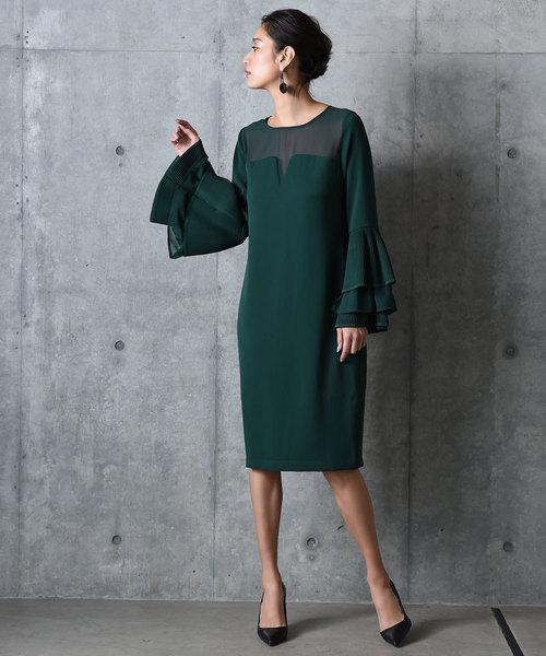 【超特価】 袖ボリュームプリーツドレス amorous/ワンピース(ドレス) amorous insense(アモラスインセンス)のファッション通販, TWINSTAR:1de7bb54 --- wm2018-infos.de
