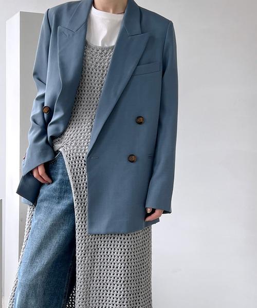 【chuclla】【2021/SS】Double tailored set up jacket sb-1 cb-3 chw1364