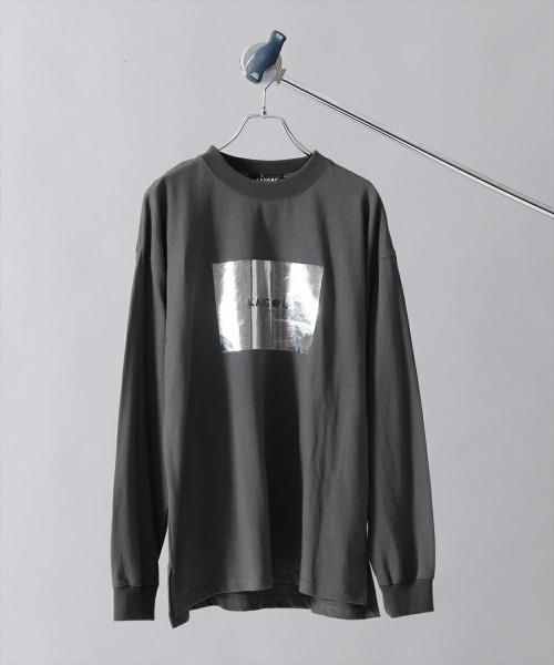 KANGOL(カンゴール)の「KANGOL【カンゴール】ブランドロゴ箔プリントロンTEE(Tシャツ/カットソー)」|詳細画像