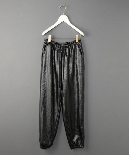<6(ROKU)>FAKE LEATHER GATHER PANTS/パンツ ◆