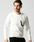wjk(ダヴルジェイケイ)の「leather seam pocket cut&sewn(Tシャツ/カットソー)」|ホワイト×ブラック