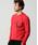 wjk(ダヴルジェイケイ)の「leather seam pocket cut&sewn(Tシャツ/カットソー)」|ブラック×レッド
