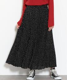 NFC プリーツ マキシ スカート