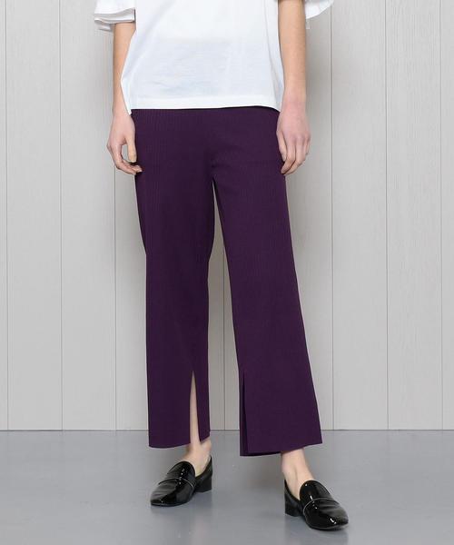 <PHEENY>WIDE RIB SLIT PANTS/パンツ