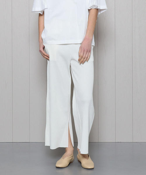 <PHEENY>WIDE RIB SLIT PANTS/パンツ