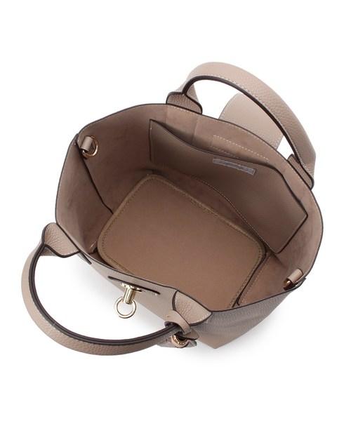 cache cache(カシュカシュ)フラップベルト付ショルダートートバッグ