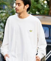 Mark Gonzales/マークゴンザレス MONO-MART別注 ビッグシルエット胸刺繍 長袖Teeホワイト