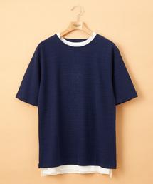 Discoat(ディスコート)のスラブサマーニットTアンサンブル(Tシャツ/カットソー)