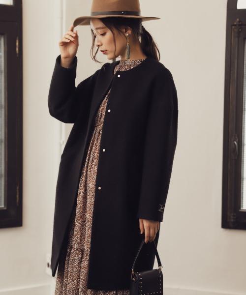 最新な 【セール】クルーネックドットボタンコート セール,SALE,mysty 840975(その他アウター)|mysty woman,ミスティ woman(ミスティウーマン)のファッション通販, 北海道グルメマート:455cf5a5 --- pashminasandwraps.de