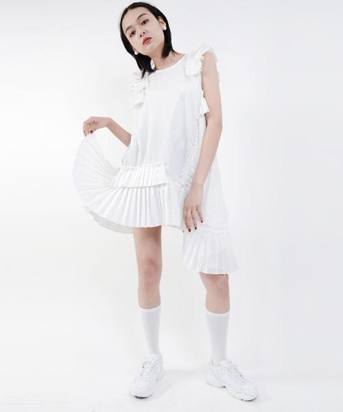 Narcissus(ナルシス)の「【cheap!!by vaNite】フリルボリュームOP(ワンピース)」|ホワイト