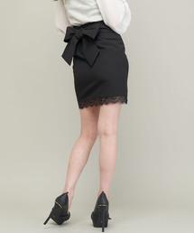 Delyle NOIR(デイライルノアール)のラップレイヤードリボンスカート(スカート)