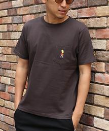 VENCEEXCHANGE(ヴァンスエクスチェンジ)のWEB限定 シンプソンズ刺繍ポケットTシャツ(Tシャツ/カットソー)