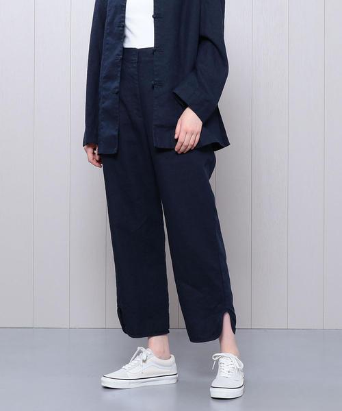 <H>LINEN CHINA PANTS/パンツ