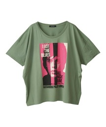 THE ROLLING STONES/ALL NIGHT RAVE オーバーサイズTシャツグリーン