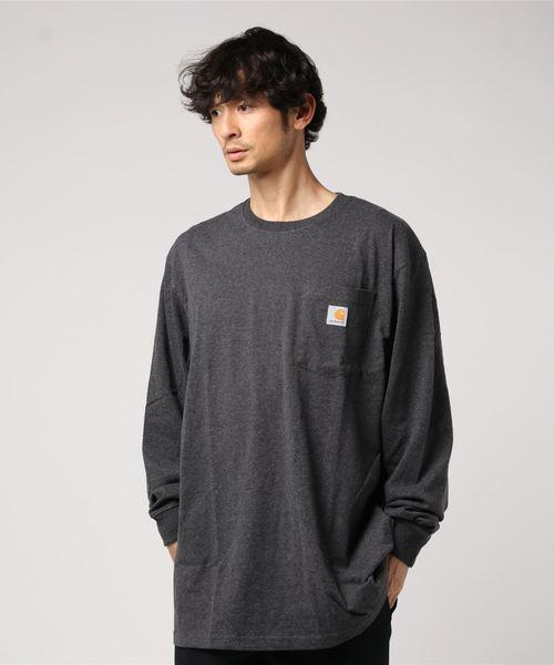 [Carhartt カーハート] LONG SLEEVE WORKWEAR POCKET T-SHIRT ポケット付きロンT
