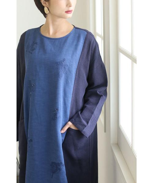 2019最新のスタイル 藍色コットンに丁寧な刺繍のポケットワンピース(ワンピース)|cawaii(カワイイ)のファッション通販, 東京リビング:98e6bfa7 --- heimat-trachtenbote.de