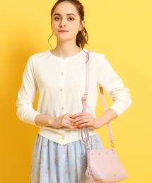 couture brooch(クチュールブローチ)の【WEB限定サイズ(LL)あり】【洗える】【UVケア】フラワーボタンニットカーディガン(カーディガン)