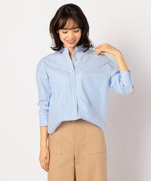 NOLLEY'S(ノーリーズ)のパール釦裾2-WAYシャツ(シャツ/ブラウス)