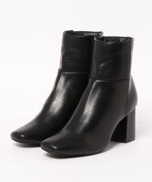 N.(N. Natural Beauty Basic)(エヌエヌナチュラルビューティーベーシック)のチャンキーヒールショートブーツ(ブーツ)