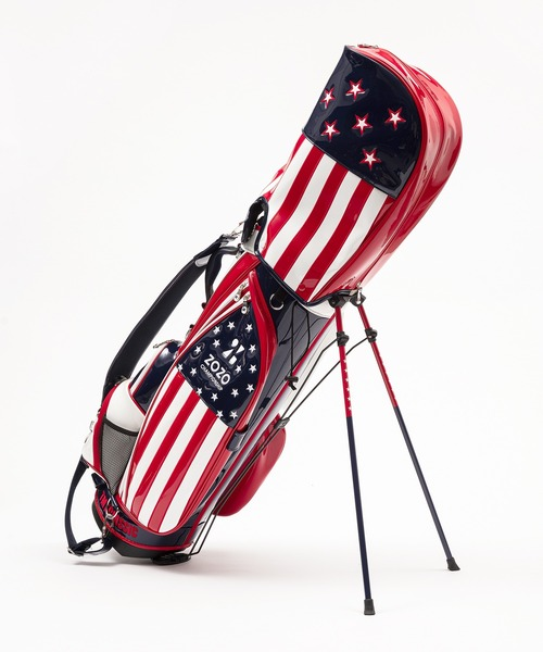 U.S.FLAG ENAMEL LETHER CADDIE BAG(STAND TYPE)ZOZO LIMITED