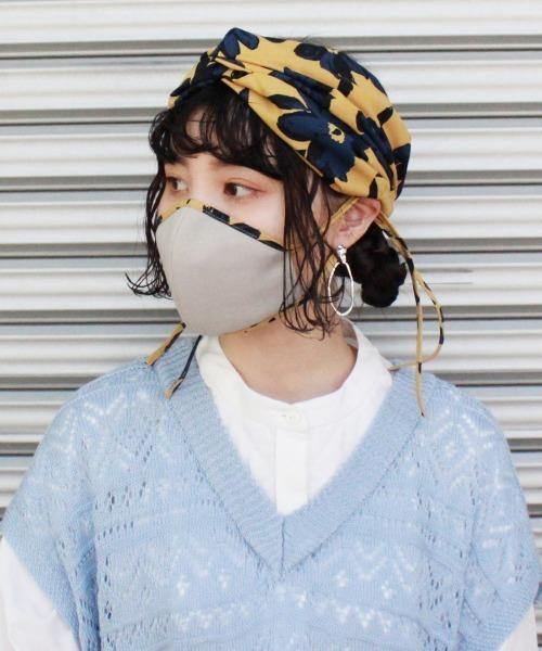 【OVERRIDE】PLANT HAIRBAND&MASK / 【オーバーライド】ヘアバンド マスクセット