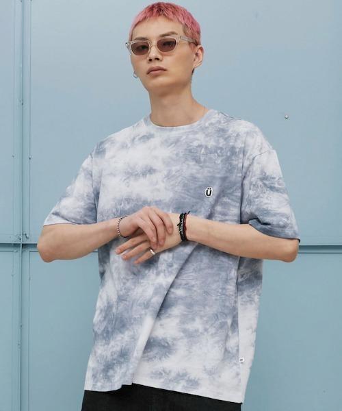 【ISTKUNST】U LOGO TIEDYE TEE / イストクンスト U ロゴ タイダイ 半袖 Tシャツ