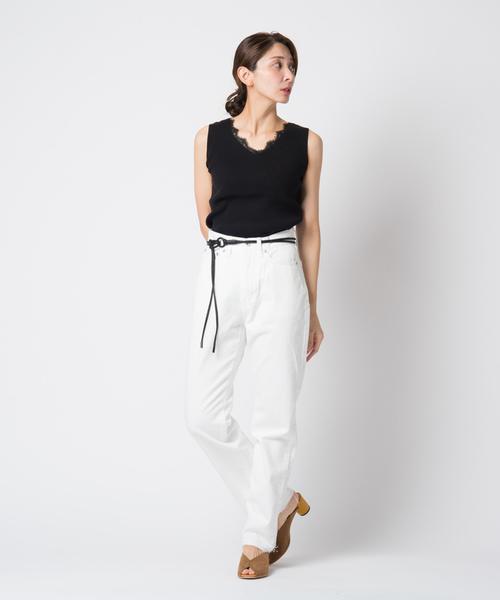 White birch denim pants / ホワイトバーチパンツ