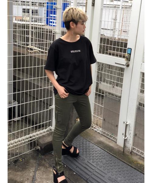 【KANGOLコラボ】かすれプリントTEE